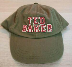 TED BAKER London Men's Cap Hat Khaki Green Adjustable