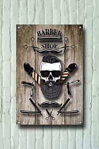 Barber Shop Metal Sign Barber Shop Décor Sign Wall Art Plaques Barber Shop 866