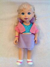 Irwin Toys Clever Cutie Talking Doll 34cm Tall Blue Eyes VGC