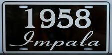 1958 58 IMPALA LICENSE PLATE 283 348 CONVERTIBLE CHEVY CHEVROLET LOWRIDER CUSTOM
