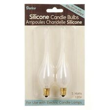 CANDLE BULB--5 watt Silicone Covered Candle Bulb - 2 pack #6201-17
