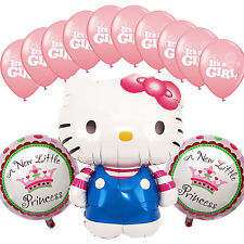 Baby Shower Birthday Party Pink Hello Kitty Deco Foil Helium Balloons Its a Girl
