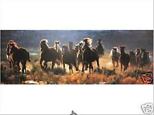 Roundup by David R Stoecklein; Western, Horses,