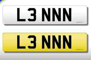 Private Number Plate L3NNN, Len, Lenny, cherished number