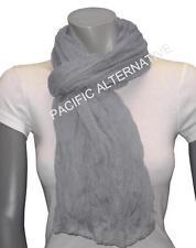 Foulard Gris grand gros 110x170 femme mixte chale echarpe NEUF scarf schal grey