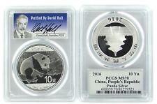 2016 China 10 Yuan Silver Panda PCGS MS70 - Verified by David Hall