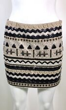 DejaVu Sequin Mini Skirt Beige Black & Ivory Size S - fits size 4 WORN ONCE