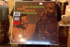 Ben Webster Meets Oscar Peterson LP sealed 180 gm vinyl RE reissue