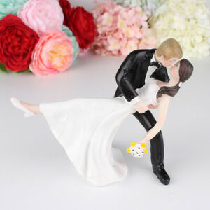 Wedding Collection Funny Wedding Cake Topper Bride and Groom Humorous Figurines