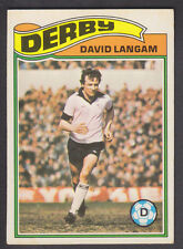 Topps - Footballers (Orange Back) 1978 - # 304 David Langan - Derby