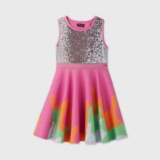 JoJo Siwa JoJo's Closet Girl's Slime Dress Pink Green Sequin Size Med (7-8)
