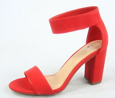 NEW Women's Single Band Open Toe Ankle Strap Chunky Heel Sandals Size 6 - 11