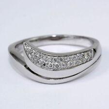 Natürliche Ringe aus Weißgold mit Diamanten Ø) von (17,5 mm