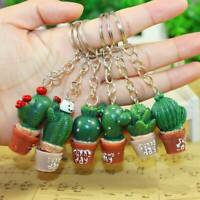 5PCS Kawaii Simulation Cactus Key Ring Key Chain Bag Hangbag Plant Pendant Chain
