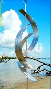 Large Silver Metal Sculpture Indoor/Outdoor Garden Statue, Home Decor Jon Allen