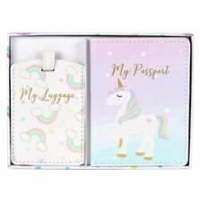 Unicorn passaporto copertura e bagagli Tag Gift Set Nuovo in Scatola CH165