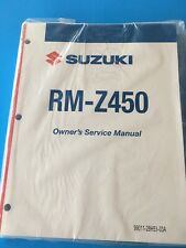 SUZUKI MOTORCYCLE RM-Z450 OWNERS SERVICE MANUAL P/N 99011-28H53-03A NEW Unopened