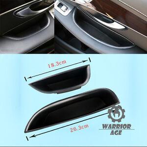 2x Front Door Handle Armrest Storage Box For Mercedes-Benz C class W205 14-15