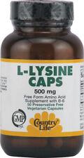 L-Lysine, Country Life, 100 capsule