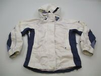 COLUMBIA RAIN JACKET Women's Size S Vented White/Blue