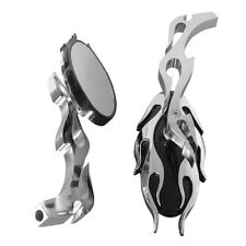 Chrome Oval Rearview Mirrors For Kawasaki Vulcan Classic MeanStreak Nomad 1600