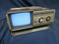 Samsung Portable TV Television AM/FM Radio 1984 Vintage BT-123AJ Old School(JBC