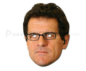 Fabio Capello Face Mask Football Player Fancy Dress Party Character Face Mask