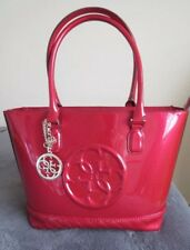 9c658eb29df7 Bnwot Guess Korry Classic Tote Red pink Patent Handbag