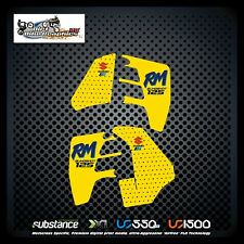 Suzuki RM 125 89 Slingshot Tank And Rad Yellow Decal Sticker Evo MX (103)