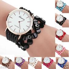 Geneva Womens Fashion Quartz Watches Analog Crystal Bracelet Dress Wrist Watches