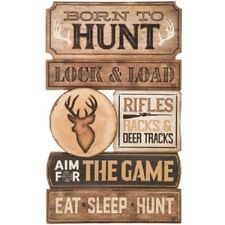 HUNTING Wood Country Wall Art Sign Decor Water Nature Lodge Log Cabin