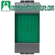 BTICINO LIVINGLIGHT antracite portalampada spia verde L4371V