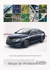 2013 Lincoln MKZ Hybrid Original Advertisement Print Art Car Ad J675