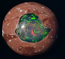 10.5 ct ETHIOPIAN NATURAL FIRE OPAL INLAY CAB GEMSTONE TO NICE SETTING JEWELRY