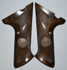 High Standard sport king supermatic 102,103,104 grips dark brown+Indian pennies