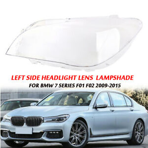 Left Side Headlight Lens Clear PC Lampshade For BMW 7 Series F01 F02 2009-2015