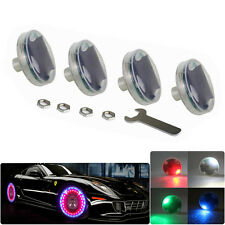 4X Car Wheel Light Solar LED Decorative Light Wheel Tire Trim Flash Light Lamp