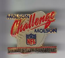 RARE PINS PIN'S .. FOOTBALL AMERICAIN MOLSON BIERE BEER N.Y JETS CLEVELAND 3D~DG