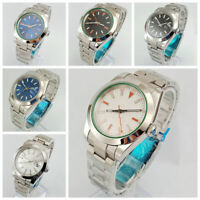 40mm watch sterile dial solid case sapphire glass automatic mens watches