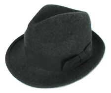 Black Fedora/Trilby hat 100% Wool brown band ASOS HAT SIZE M/L 60cm