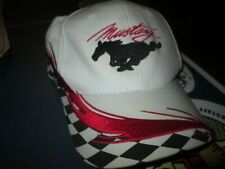 Checkered Flag CS Race Track Logo Red Hat Ford Mustang GT500  OC
