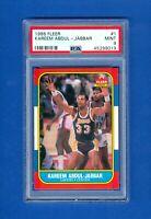 1986/1987 Fleer #1 Kareem Abdul-Jabbar *PSA 9 MINT* 86/87 Basketball Set Card