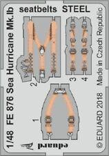 Eduard Zoom FE876 1/48 Hawker Mar Huracán Mk. ib Cinturones De Seguridad Acero Airfix