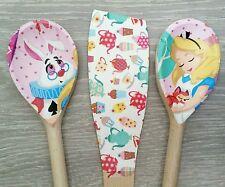 Alice nel paese delle meraviglie Design cucchiaio e spatola set, shabby chic fatto a mano