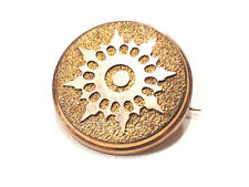 Bijou alliage doré broche ancienne ntemporelle rosace brooch
