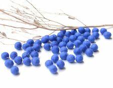 1cm BLUE Felt Balls x50.Wool.Party Decor.Pom poms.Felt Ball.Wholesale.