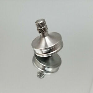 Solid Stainless Steel Spin EDC Metal Spinning Top Si3N4 Bearing Tip - EUC