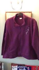 Ladies Purple Fleece Jacket BNWT Size L with side pockets from Anne De Lancay