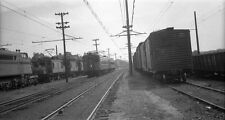 MM480 NEG/RP 1940s? CSS&SB SOUTH SHORE RR YARD MICHIGAN CITY IN MP BOXCAR 48427