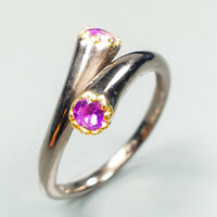 Jewelry Gift Silver ring Natural Amethyst 925 Sterling Silver handmade / RVS341